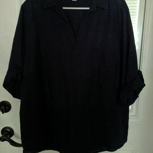 Ladies navy blue shirt